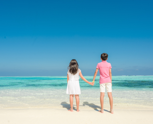 family vacation in the Maldives