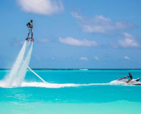 fly-boarding in Maldives
