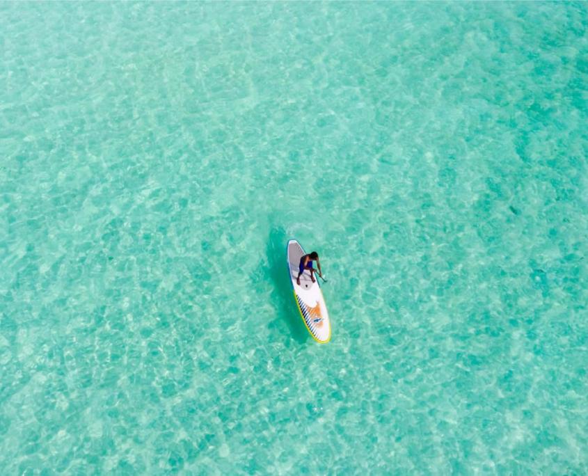 paddling in Maldives